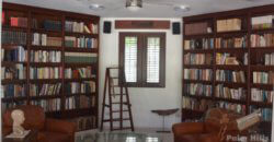 3 story villa with a Library