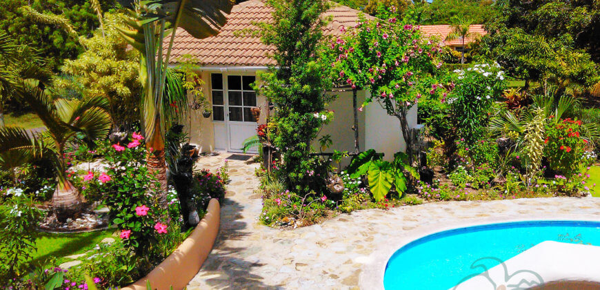 3 bedroom villa with guest house