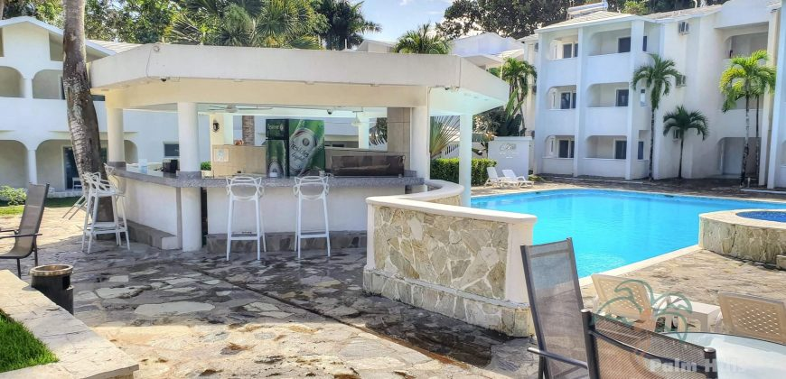 new studio with view to the pool, center Cabarete
